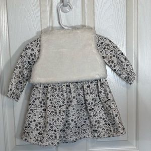 Carter's Dresses - Carters Girls Dress with Faux Fur Vest 6 mo